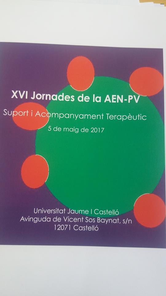 Soporte y acompañamiento. XVI Jornadas de la Asociación Española de Neuropsiquiatría de Profesionales de Salud Mental del País Valenciano