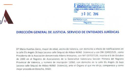Presentada la Solicitud de Utilidad Pública de la Asociación Albero Artesanos