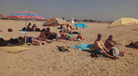 Día de playa en Pinedo