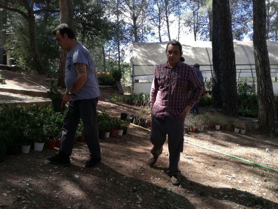 El taller de recuperación visita el taller de jardinería en El Vedat