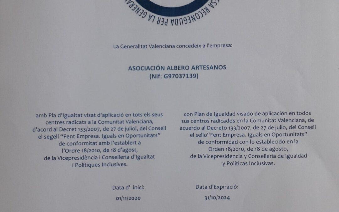 Aprovat i visat el II Pla d´igualtat Albero 2021-2024 per la Direcció de l´institut Valencià de les Dones